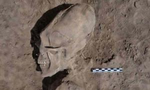 The cemetery is about 1,000 years old and the skulls were studied in more detail in 2012. (Cristina García / INAH)