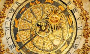A celestial clock found in Cathédral St. Jean in Lyon (14th century)
