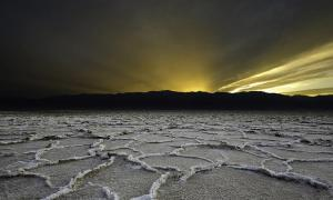 """Sunset at Bathwater"" Death Valley, California"