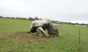The dolmen tomb at Killaclohane in County Kerry