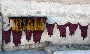 13th century cat- and goat-hide shop