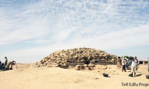 Pyramid discovered at Edfu in Egypt