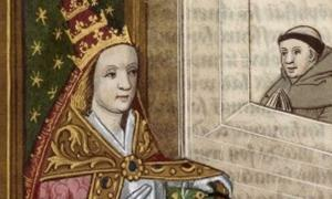 La Papesse Jeanne' (Pope Joan), the purported female Pope (Bibliotheque Nationale de France.)