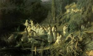 Vilas and rusalkas were dangerous female spirits, souls of young women who had died prematurely