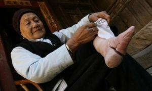 Foot binding tradition