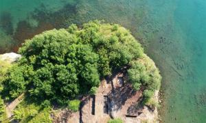 Aerial view of the Cape Chiroza fortified Hellenistic center recently found on the Black Sea coast of Bulgaria.   Source: Burgas Municipality