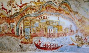 Featured image: Elaborate and colorful fresco revealed at Akrotiri.