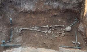 The Hellenistic tomb of a woman found in the Kozani region of Greece. Source: Kozani Ephorate of Antiquities