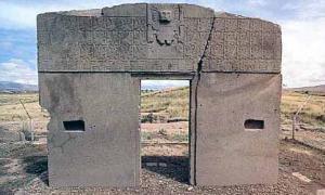 """Gate of the Sun"" at Tiwanaku, Bolivia"