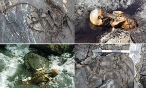 Ancient artifacts from melting glaciers