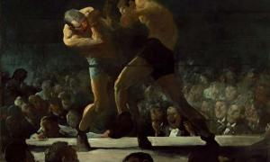 'Club Night (1907) by George Bellows. The history of boxing dates back thousands of years.