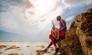 Portrait of a Maasai warrior in Africa, Diani beach    Source: shangarey / Adobe Stock