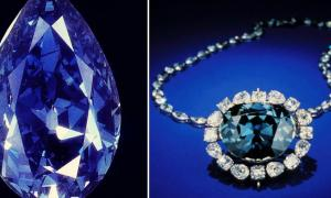 The Tereshchenko and Hope Diamonds, two rare, blue, and world famous diamonds.