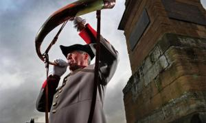 A horn blowing ceremony in Ripon, England. Source: Grove House Bed and Breakfast