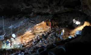 Border Cave Excavation site, Lebombo Mountains, South Africa.        Source: Credit Dr Lucinda Backwell/ Wits University