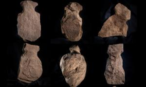 Some of the nine supposed human figurines unearthed on Orkney. Source: Orkney.com