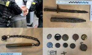 Just a few of the illegal historical artifacts recovered by the police in Poland recently. Source: Malopolska Police and KPP Wadowicach