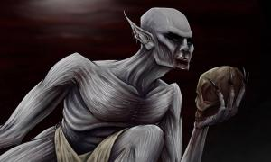 An illustration of a strigoi.