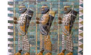 Mosaic depicting Persian Archers
