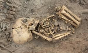 Infant skeleton found beneath Roman bathhouse in Ashkelon, Israel