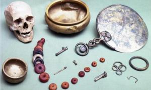 A group of iron-age treasures buried around AD 50 along with their owner, housed in the City Museum and Art Gallery, Gloucester