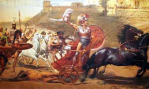 Triumph of Achilles in Corfu Achilleion.
