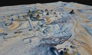 LiDAR image revealing Maya structures beneath the jungle canopy in Guatemala