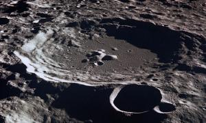 Alien material in Crater on the Moon
