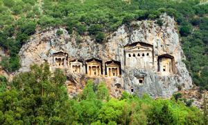 Ancient Lycian Rock cut Tombs