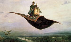 A 19th century painting of a magic carpet by Viktor Vasnetsov.