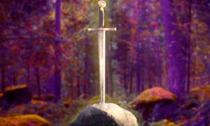 A magical sword, in a Fairy Tale fores