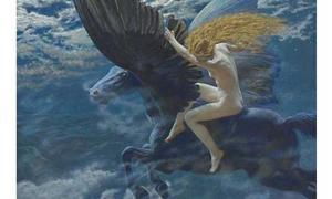 Dream Idyll (A Valkyrie) by Edward Robert Hughes