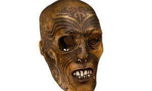 Tattooed Maori head