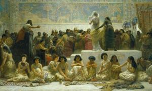 Edwin Long's The Babylonian Marriage Market.