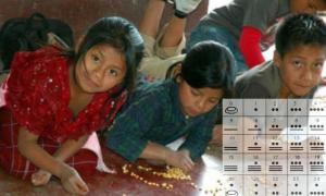Children learning math, Yucatan, Mexico