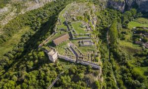 Aerial view of the ruins of the Cherven medieval fortress near Rousse, Bulgaria Source: Atanas / Adobe Stock