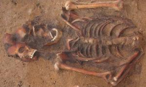 Multiple burial in Vilnius, Lithuania containing an individual infected with both plague and yaws. Source: Courtesy of Robertas Zukovskis and Scientific Reports.