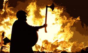 Photo from a modern-day Viking fire festival