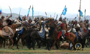Reenactment of Mongol battle
