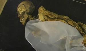 Mummy of the Ukok Princess/Siberian Ice Maiden. Tattoos line her arms.