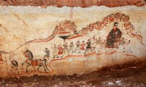 Murals uncovered in Ming Dynasty tomb
