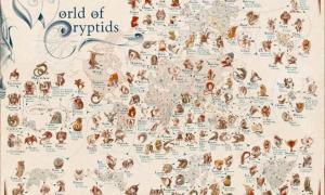 Exquisite Maps Reveal a Worldwide Mythical Creatures List