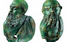 Roman bronze figure representing Silenus