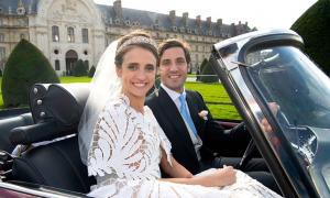 The elite marriage of Jean-Christophe Napoleon Bonaparte and Olympia von und zu Arco-Zinnerberg. Source: BUNTE TV / YouTube Screenshot.
