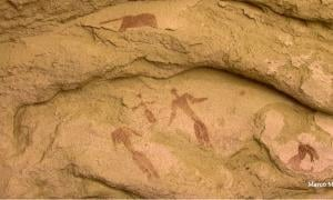 The 5,000-year-old rock painting in this photo by Marco Morelli, via Seeker.com, may depict a Nativity-type scene like the 2,000-year-old scenes of Jesus' birth