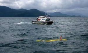 Researchers probe the ocean floor in Juan Perez Sound with University of Victoria's AUV