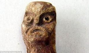 Old pagan god figurine in Russia