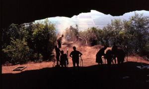 View over Swaziland from the mouth of Border Cave. Source: (Public Domain)
