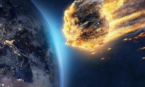 Illustration of meteor entering Earth's atmosphere    Source: lassedesignen / Adobe Stock