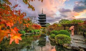 Toji Pagoda, Kyoto. The Saiji pagoda was similar in build. Source: f11photo / Adobe Stock